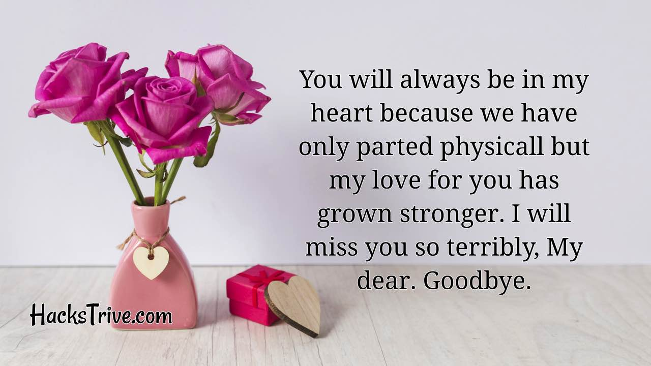 Best Goodbye Messages For Her