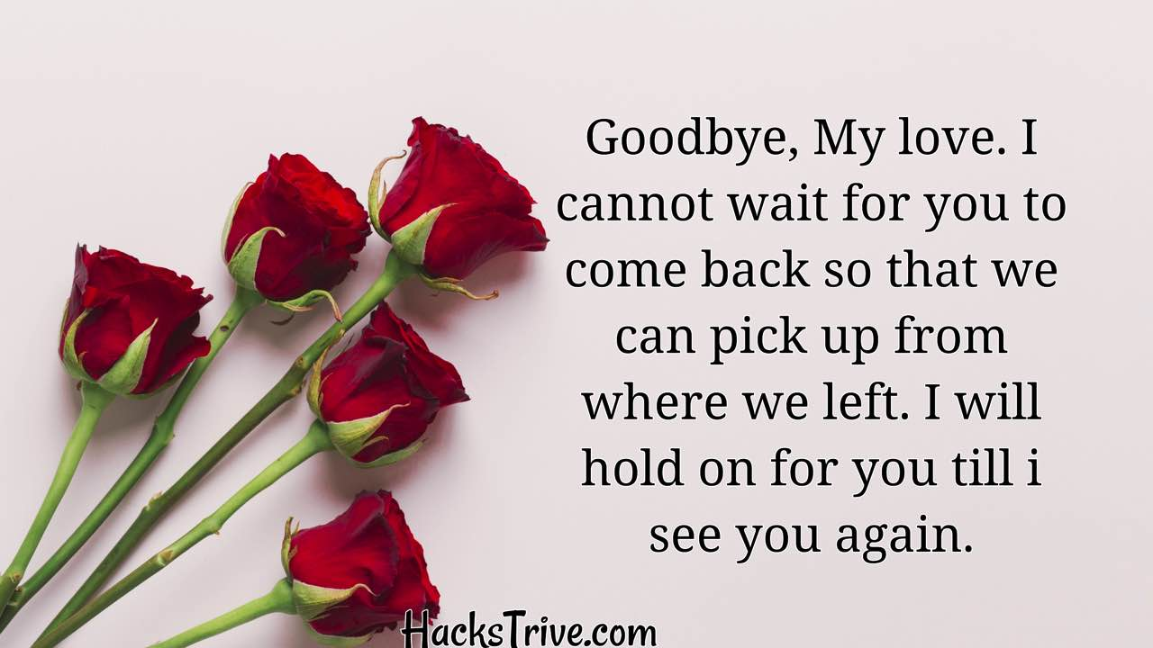 Sweet Goodbye Messages For Her