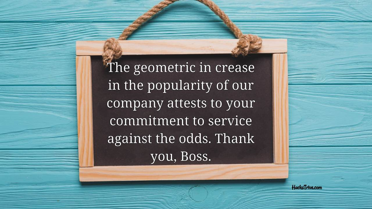 Inspirational Thank You Messages For Boss