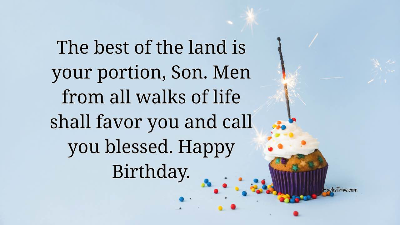 Heartfelt Birthday Wishes For Your Son