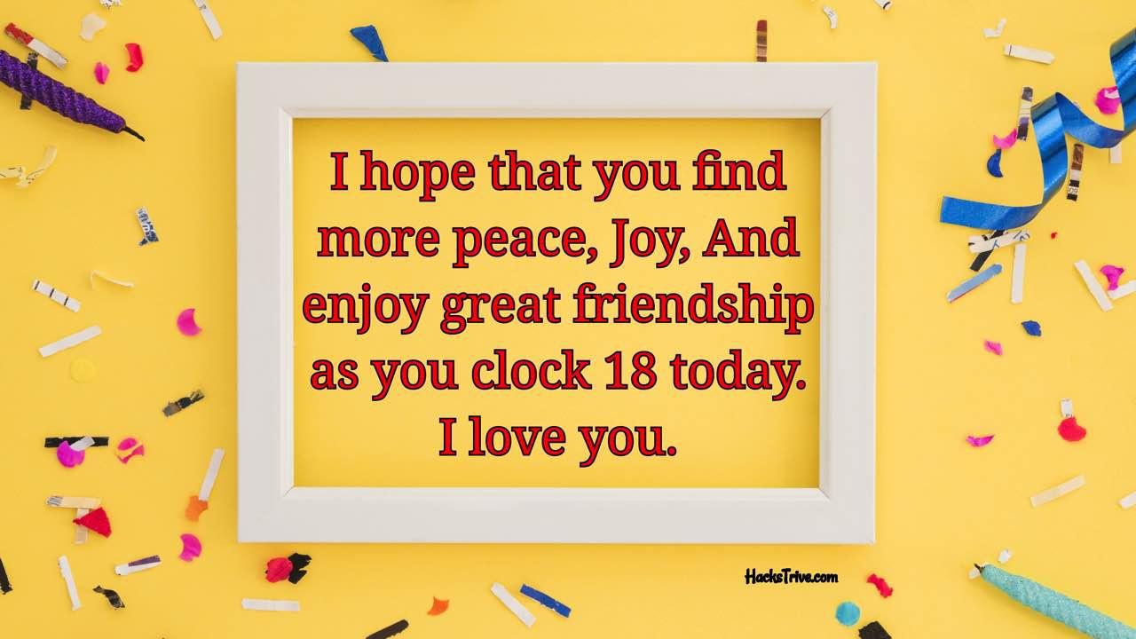 Happy 18th Birthday Wishes