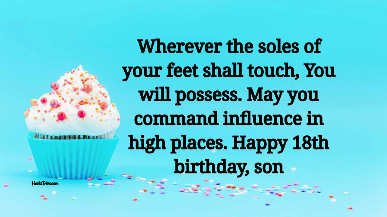 Happy 18th Birthday Wishes To Your son
