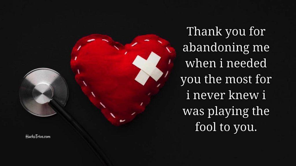 Broke my heart messages u Broken Heart