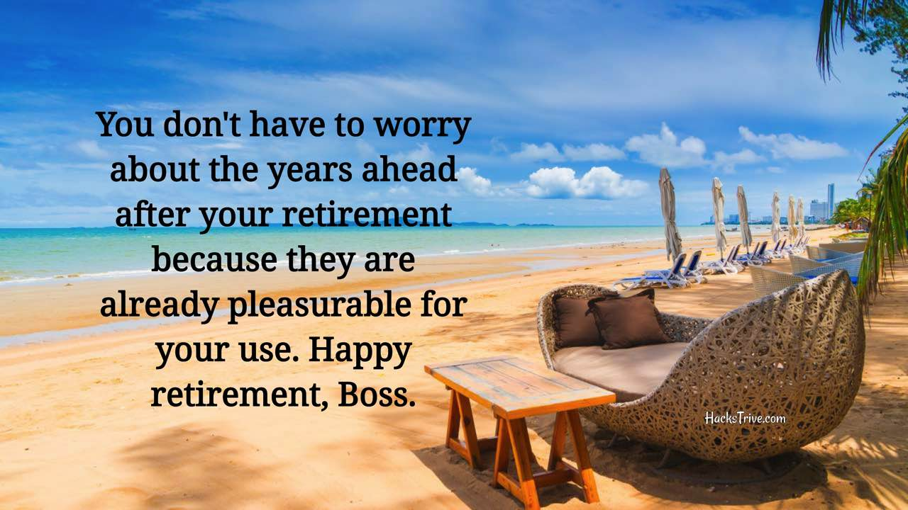 Inspirational Retirement Wishes For Boss