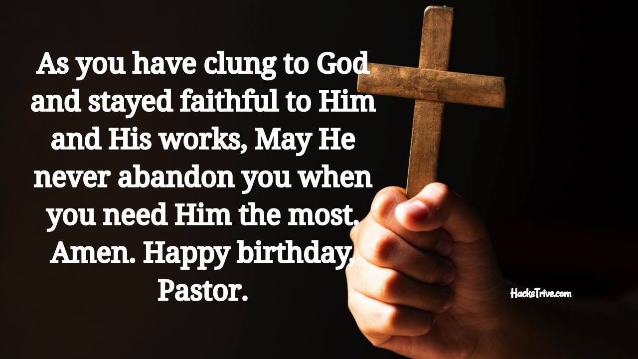 Best Birthday Wishes For Your Pastor