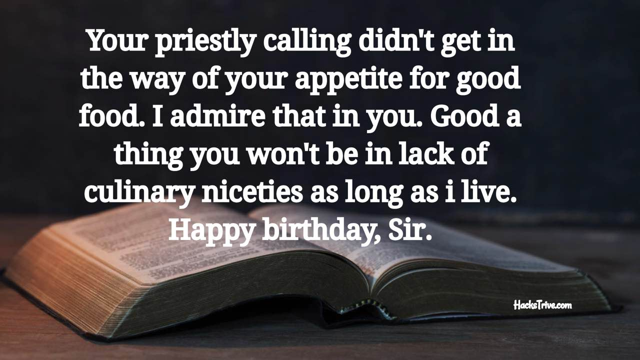 Funny Birthday Wishes For Your Pastor