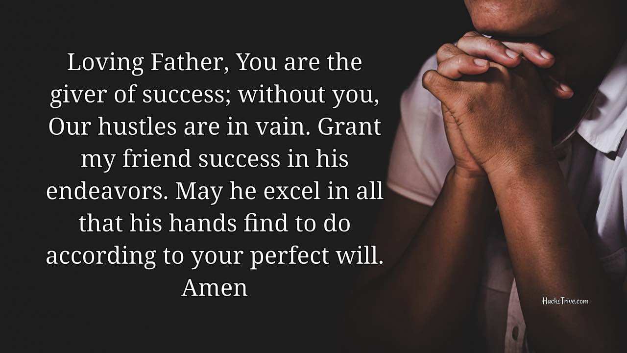 Prayers For Your Friend's Success