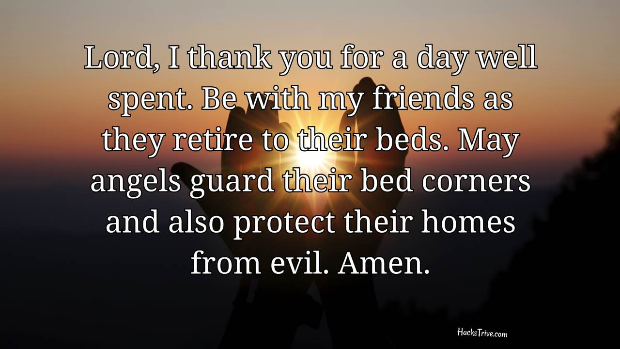 Good Night Prayers For Friends