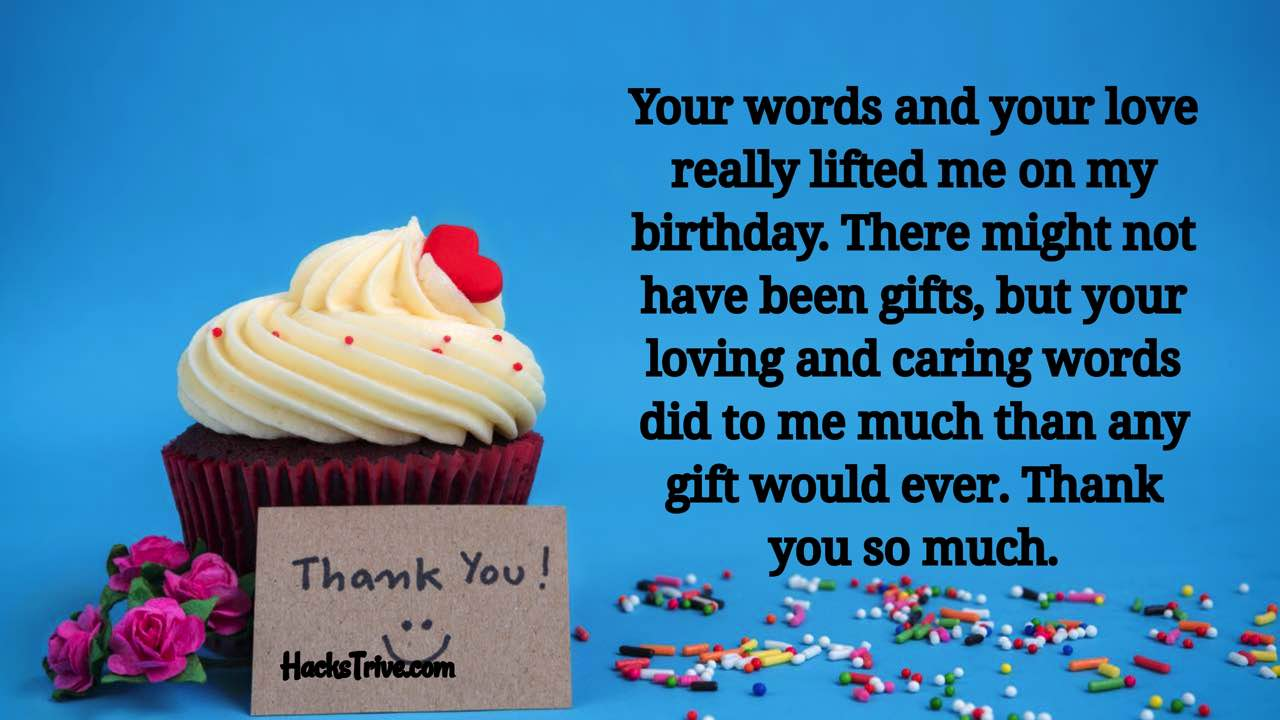 Emotional Thank You Messages For Birthday Wishes