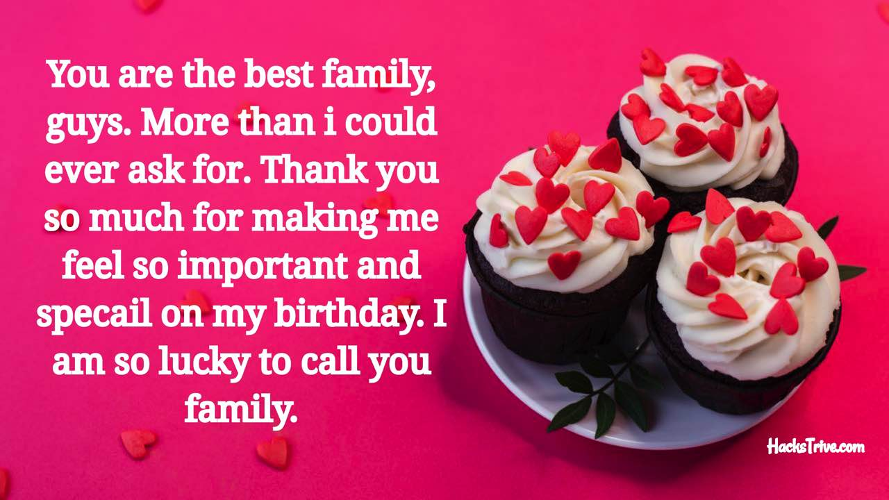 Thank You Birthday Message To Family And Friends