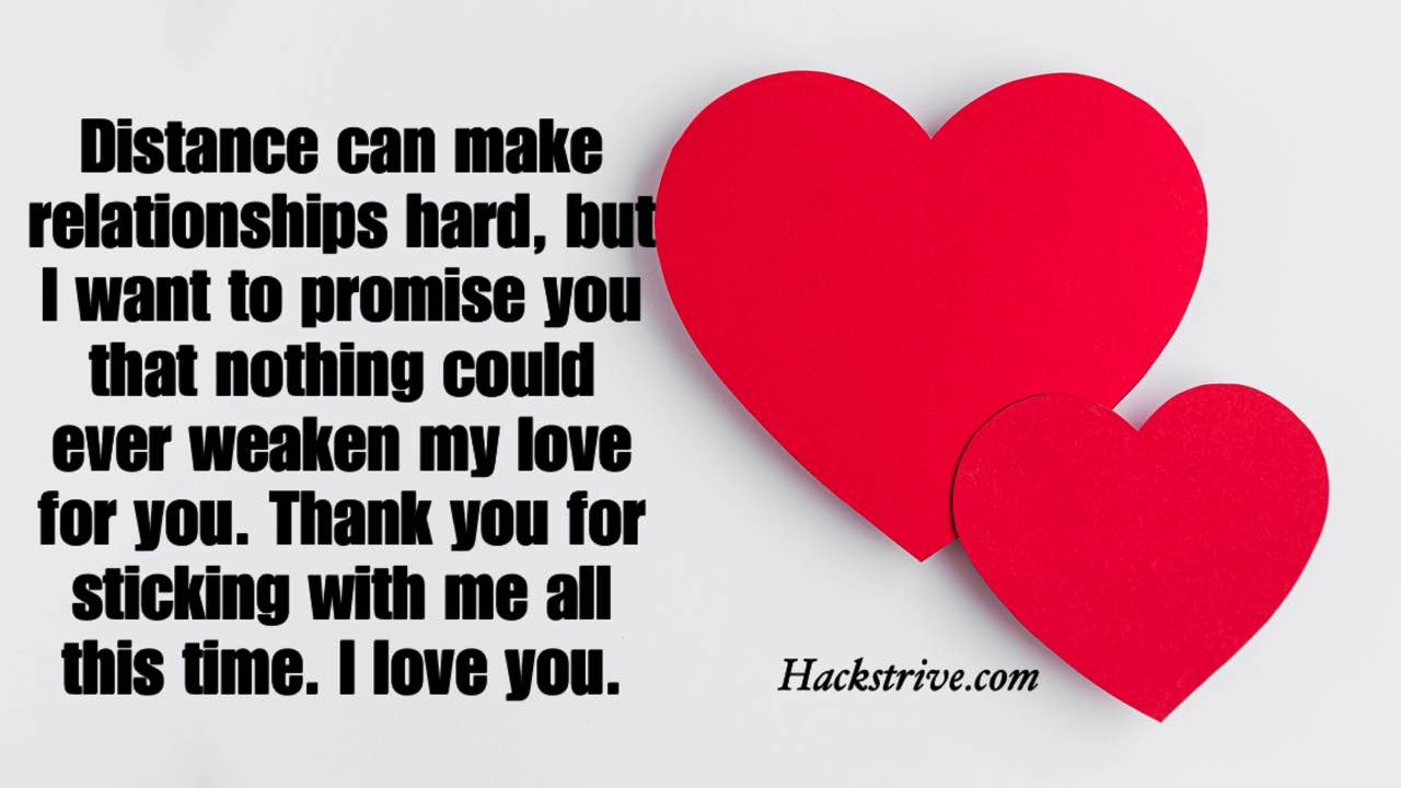 Love And Trust Messages for Long Distance Relationship
